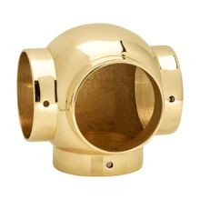 2in Dia x 3-7/16in H | Polished Brass Finish | Ball Fitting | Series S83-206
