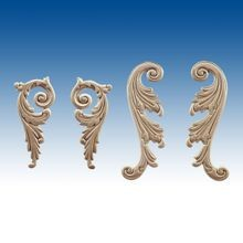 Decorative Architectural Embossed Wood Scrolls