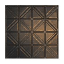 2' Square Antique Rustic Black Lay In Premium Decorative Stamped Steel Ceiling Panel