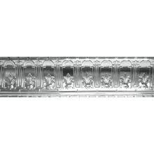 Tin Plated Stamped Steel Cornice | 9-1/2in H x 9-1/2in Proj | 4ft Long