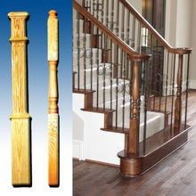 Newel Posts Hand Carved (Maple/White Oak/Cherry)