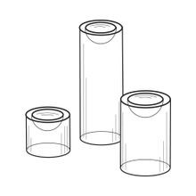 Set of 3 Acrylic Dimple Riser