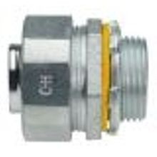 1 IN. Straight Zinc Die Cast Connector, LiquidTight