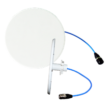 Slim round omnidirectional Antenna 50W input power, 3 dBi Gain, wide beamwidth, N-Type (f) connector, 153 dBc PIM, 600-4000 MHz