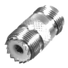 N FEMALE TO UHF FEMALE STRAIGHT ADAPTER; SILVER PLATED BODY, GOLD PLATED CONTACT, PTFE DIELECTRIC