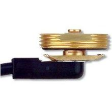 3/8 IN. HOLE, 3/4 IN. THICK BRASS MOUNT WITH 25 FT. RG58U LEAD, NO CONNECTOR