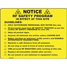 YELLOW NOTICE POINTS SIGN - PLASTIC