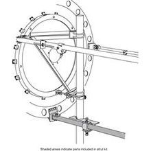 BOTTOM STRUT KIT FOR 8/10/12' MICROWAVE-DIA NOMINAL 2.4M/8'-