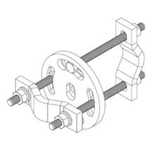 CROSSOVER PLATE, UNIVERSAL ROUND, JOINS RANGE OF 2-3/8 IN. UP TO 3-1/2 IN. OD ROUND MEMBERS