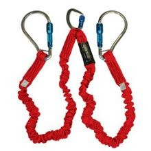 Flex No-Pac Energy Absorbing Lanyard with Aluminum Carabiners
