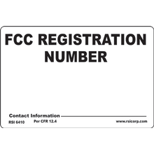 FCC TOWER REGISTRATION SIGN - PLASTIC