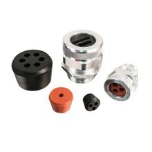 Multiple Hole Bushing, neoprene, hole sizes 2 @ .187, Form Size 2