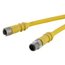 Dual Key Micro-Link Cable Assembly, (SJOOW), Male/Female, 4 pole, 12', 18 AWG