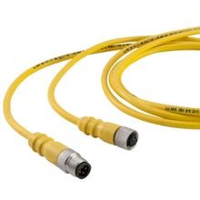 Dual Key Micro-Link Cable Assembly, PUR Braided, Male/Female, 5 pole, 20', 22 AWG