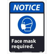National Marker Company<sup>®</sup> NGA39PB Safety Sign: Notice Face Mask Required
