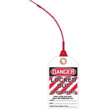 Accuform® TAK639 Loop 'n Lock™ Tie Tag: DANGER LOCKED OUT DO NOT OPERATE (LOTO)