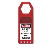 Accuform<sup>®</sup> TSS902 Secure-Status Tag Holder: DANGER DO NOT USE SCAFFOLD OR CLIMBER