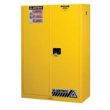 Justrite® Sure-Grip® EX 45-Gal Safety Cabinet with Two Shelves for Flammables
