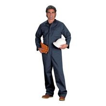 Chicago Protective Apparel 605IND-N Navy Indura<sup>®</sup> Flame-Resistant Coveralls