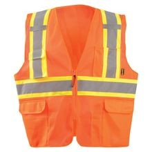 OccuNomix<sup>®</sup> ECO-ATRNSMXO Class 2 Two-Tone Surveyor Hi-Viz X-Back Break-Away Vest