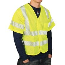 National Safety Apparel<sup>®</sup> V00HA-3V FR Class 3 Hi-Viz Mesh Vests