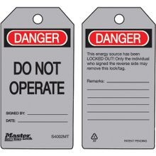Master Lock® Guardian Extreme™ S4002MT Metal Detectable Safety Tag: DO NOT OPERATE