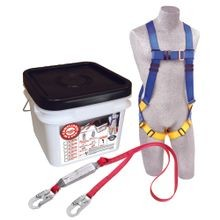 3M™ PROTECTA<sup>®</sup> Compliance in a Can™ Light Roofer's Fall Protection Kit with Tongue-Buckle Legs on Harness