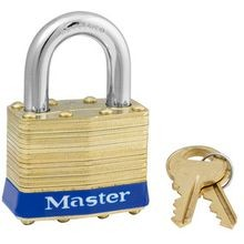 Master Lock<sup>®</sup> 2KA-B-2013 Brass Safety Padlock