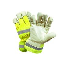 PIP HVY5555 Hi-Vis Leather Palm Gloves with Positherm<sup>®</sup> Lining