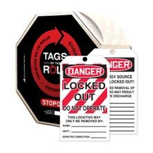 Accuform® Tags By-The-Roll: DANGER LOCKED OUT DO NOT OPERATE (LOTO)