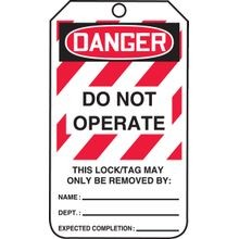 Accuform<sup>®</sup> MLT406 Safety Tags: DANGER DO NOT OPERATE THIS LOCK/TAG