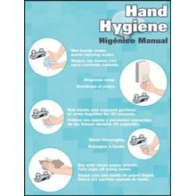Accuform<sup>®</sup> SP124486 Bilingual Safety Posters: Hand Hygiene to Prevent the Spread of Germs Including Novel Coronavirus (COVID-19)