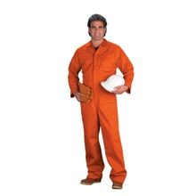 Chicago Protective Apparel 605IND-O Orange Indura<sup>®</sup> Flame-Resistant Coveralls