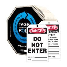 Accuform® TAR104 Safety Tag: DANGER DO NOT ENTER