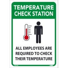 National Marker Company<sup>®</sup> M612PB Safety Sign: Temperature Check Station