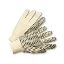 Saf-T-Gard® 8 oz. Cotton Canvas Gloves with PVC Dots