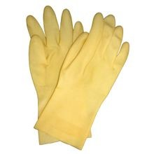 Saf-T-Gard® R-192E Natural Rubber Latex Chemical-Resistant Gloves
