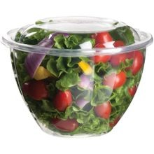 Eco-Products® Clear 48 oz Plastic Salad Bowls with Lids (EP-SB48)