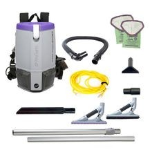 ProTeam® Super Coach Pro™ 6 HEPA® Backpack Vacuum with ProBlade Hard Surface & Carpet Tool Kit (107535)