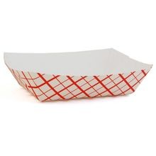 #40 Southland™ 6 oz Waxed Red Check Tray (0405)