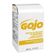 GOJO® Gold & Klean™ 800 mL Antimicrobial Lotion Soap Refill (9127-12)