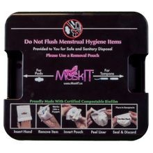 MaskIT® Black Sanitary Disposal System Single Stall Kit (MASKV2WMDB)