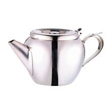 Contemporary Stainless Steel 20 oz Teapot with Strainer