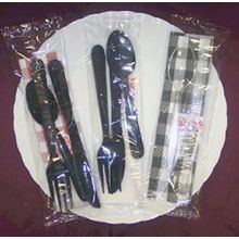 Extra Heavy Weight Black Knife Fork Salt Pepper 13