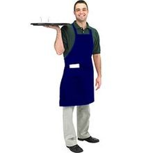 Navy Bib Cloth Apron (601BAC-NV)