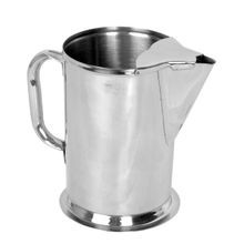 Stainless Steel 64 oz Water Pitcher with Ice Guard
