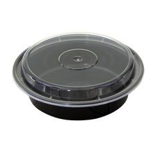 Pactiv® VERSAtainer® 24 oz Black Round Microwavable Container Combo (NC723B)