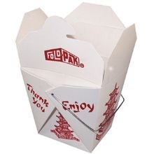 Eastern-Style Pagoda Design 16 oz Paper Food Pails