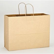 Duro Bag® Tote Kraft Paper Twist Handle 16