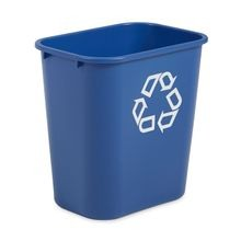 Rubbermaid Commercial® Deskside 28.1 QT Plastic Blue Recycle Bin (295673)